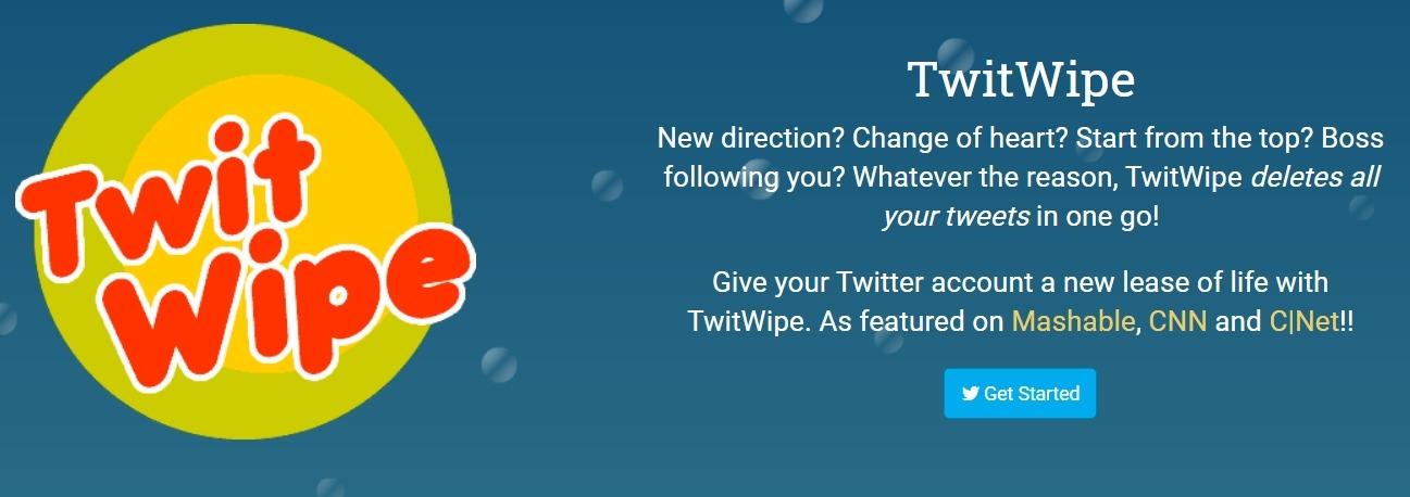 TwitWipe ile Twitter geçmişi silme